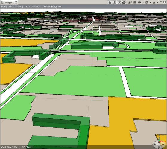 CityEngine 3D Topo rendering